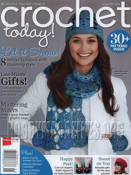 Crochet Now Magazine : Crochet Today! - January 2014 ? Hobby Magazines Download Free ...