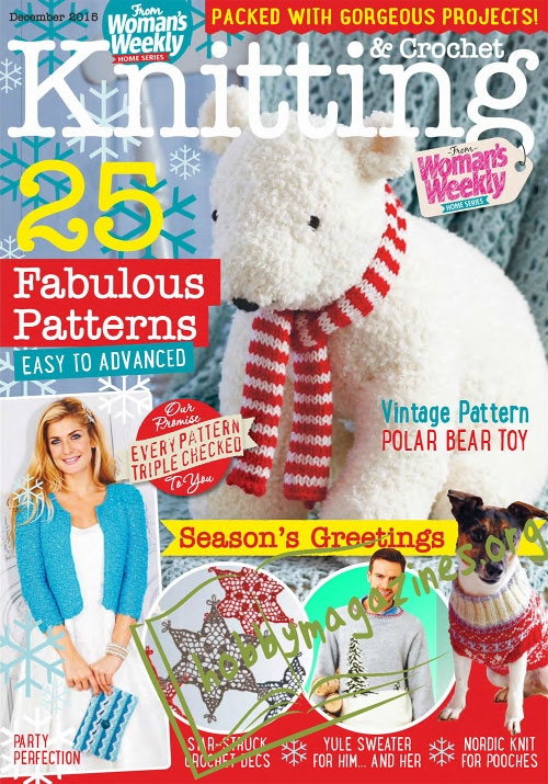 Knitting Amp Crochet December 2015 187 Hobby Magazines