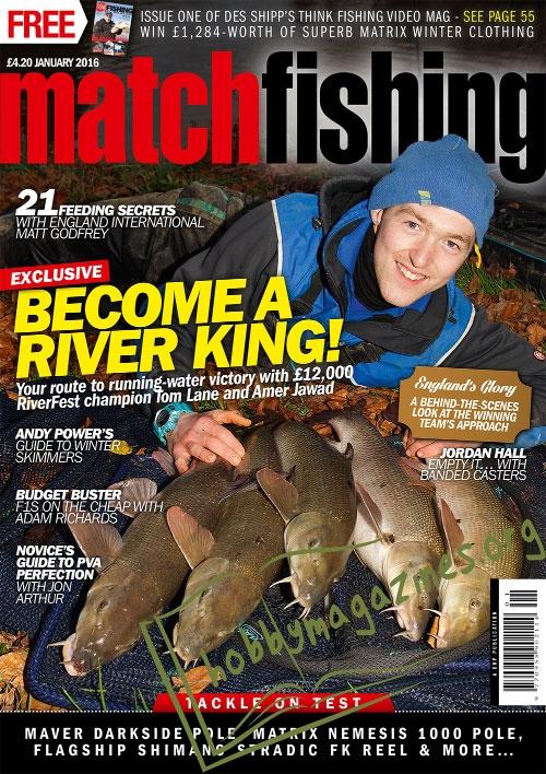 Match fishing january 2016 hobby magazines free for Free fishing magazines