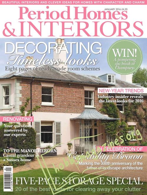 Period Homes Interiors January 2016 Hobby Magazines