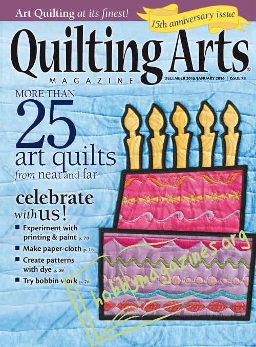 Quilting Arts – December/January 2016