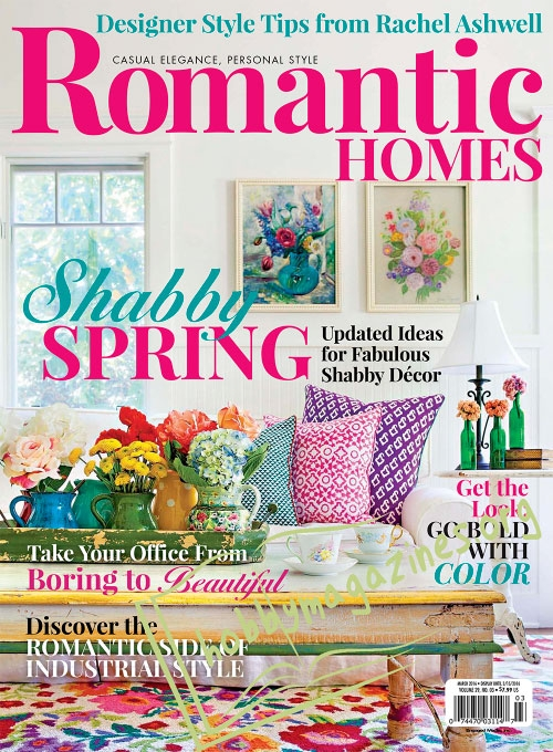 Romantic homes march 2016 for Free home magazines