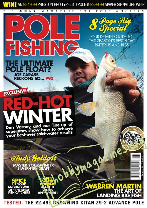 Pole fishing january 2017 hobby magazines free for Free fishing magazines