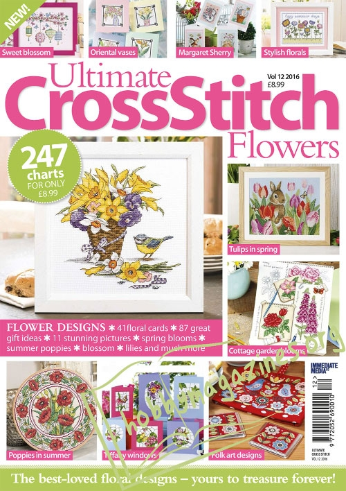 Ultimate Cross Stitch Flowers 12, 2016