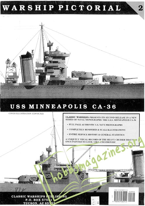 Warship Pictorial 02 : USS Minneapolis CA-36