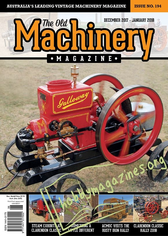 The Old Machinery Magazine - December/January 2018