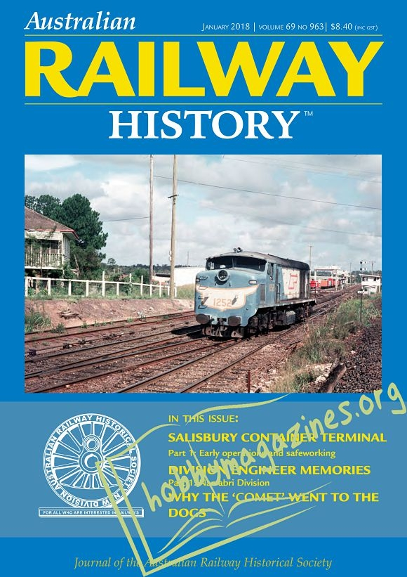 Australian Railway History - January 2018