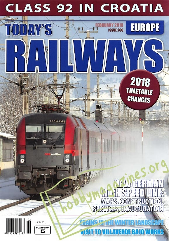 Todays Railways Europe - February 2018