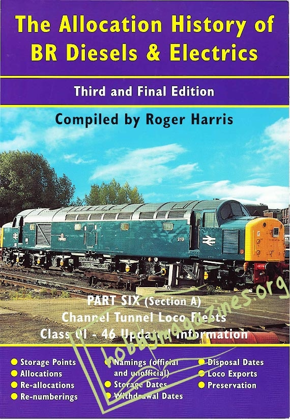 The Allocation History of BR Diesels and Electrics Part 6a