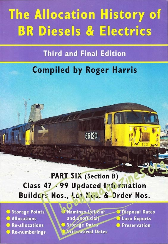 The Allocation History of BR Diesels and Electrics Part 6b