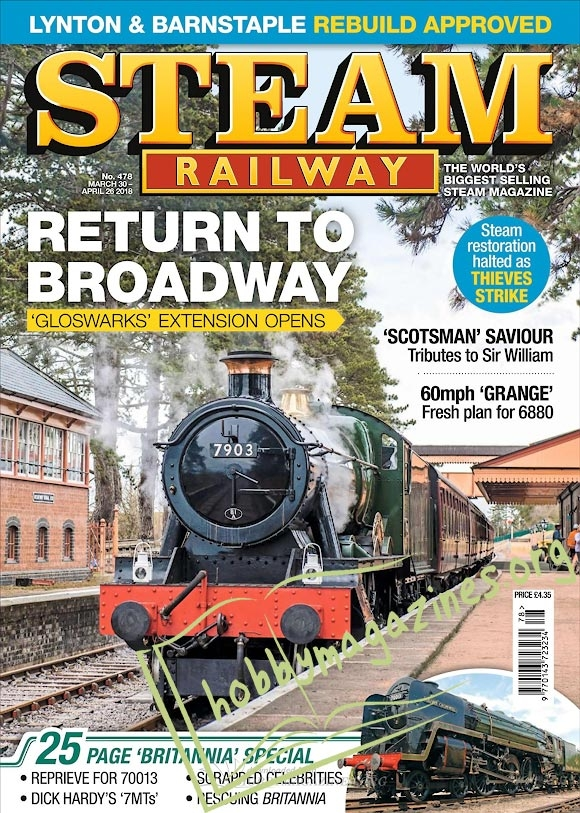 Steam Railway - 30 March/26 April 2018