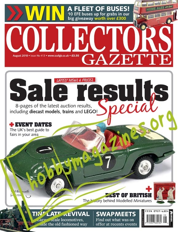 Collectors Gazette – August 2018