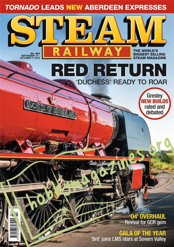 Steam Railway 484 - September 14-October 11 2018