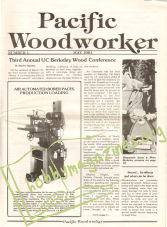 Pacific Woodworker ( Popular Woodworking) Issue 001 - May 1981