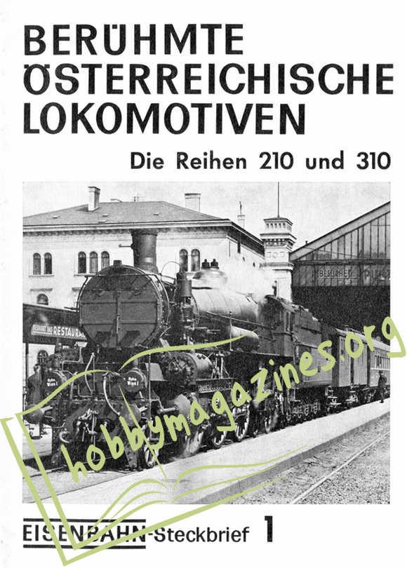 Eisenbahn Steckbrief 1 - Berühmte Österreichische Lokomotiven Rh 210 und 310