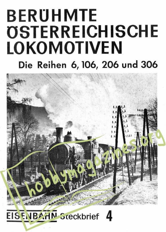 Eisenbahn Steckbrief 4 Berühmte Österreichische Lokomotiven Die Reihen 6,106,206 und 306