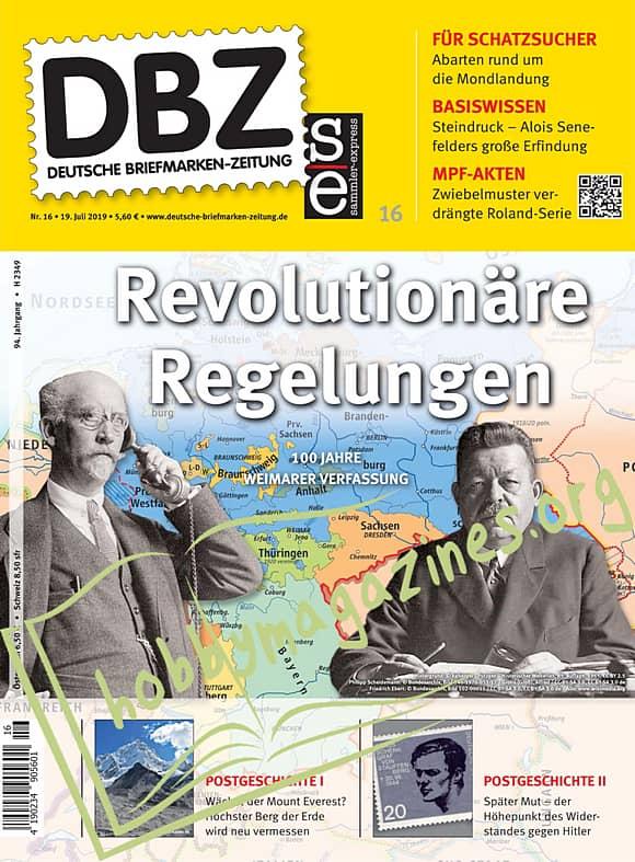 Deutsche Briefmarken-Zeitung 2019-16