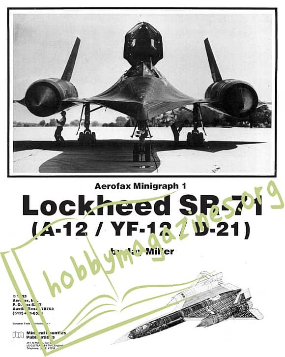 Aerofax Minigraph 01 - Lockheed SR-71