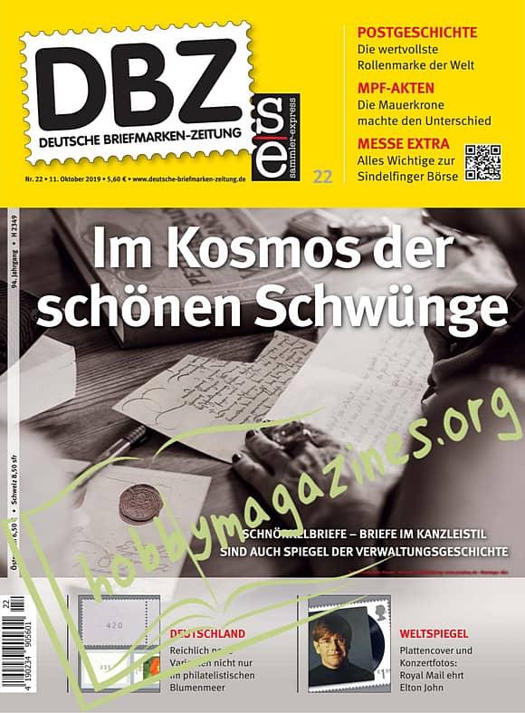Deutsche Briefmarken-Zeitung 22 – 11 Oktober 2019