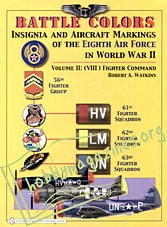 Battle Colors.Insignia And Aircraft Markings Of The Eight Air Force In World War II. Volume II/(VIII) Fighter Command