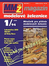 Magazin Modelove Zeleznice 001 - 1994-01