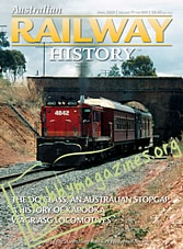 Australian Railway History - April 2020