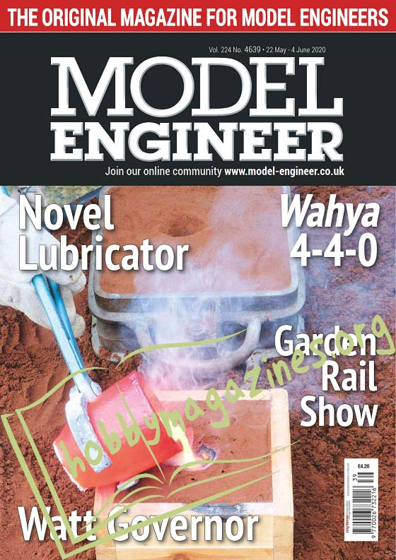 Model Engineer - 22 May 2020