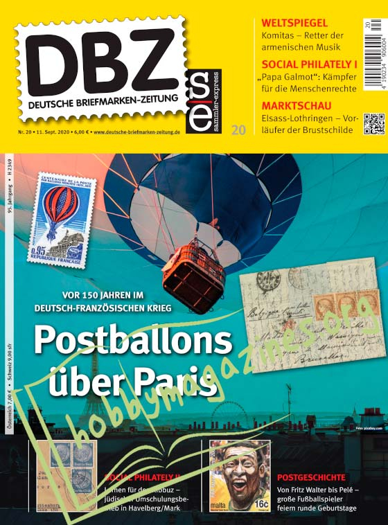 Deutsche Briefmarken-Zeitung - 11 September 2020