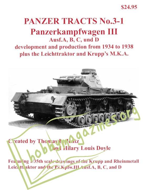 Panzer Tracts 3-1 Panzerkampfwagen III